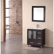 element contemporary bathroom vanity set: design element stanton quot modern vanity w drop in sink espresso