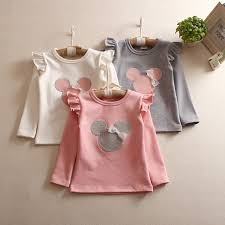 Kids Girls Casual <b>Autumn Long Sleeve</b> Cute Cotton T-<b>shirt Tops</b> ...