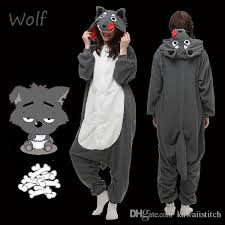 Clothing, Shoes & Accessories <b>Wolf</b> Unisex Onesie0 <b>Kigurumi</b> ...