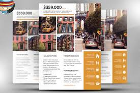 real estate brochure template brochure templates on creative market real estate flyer template