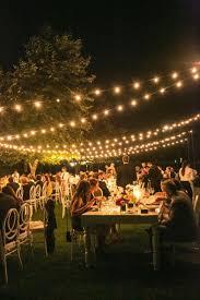 beautiful lighting ideas for weddings backyard wedding lighting