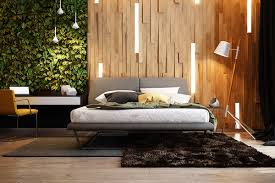 bedroomheadboard wall with wood and integrated lighting also floor lamp and rugs also computer bedroom lighting tips