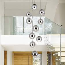 Modern Staircase Chandelier 10 Glass Balls Creative ... - Amazon.com