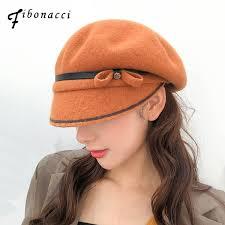 2019 <b>Fibonacci</b> 2018 New Fashion Wool Beret Cap <b>Brand Quality</b> ...