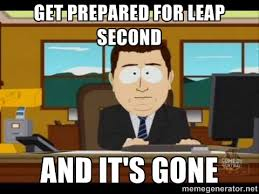 Get prepared for leap second and it's gone - south park aand it's ... via Relatably.com