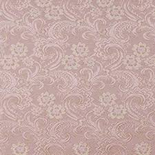 D120 Gold And Pink Paisley Floral <b>Brocade Upholstery Fabric</b> By ...