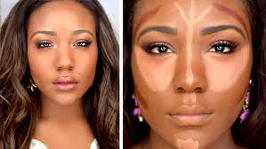 how to contour highlight foundation for black women makeup tutorial 2016 dark skin