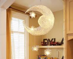 <b>Moon & Star Pendant</b> Lamp <b>Modern Pendant</b> Light Shadow Lamp ...