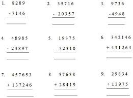 Worksheet by Adding or Subtracting | Worksheet on Addition ...Worksheet by Adding or Subtracting