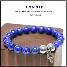 "BOYBEADS ""Lonnie"" <b>10mm Natural</b> Bright <b>Blue</b> Lapis Lazuli Bead ..."