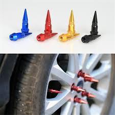<b>4Pcs Motorcycle Car</b> Auto Bike Spike Shape Dustproof Tire Wheel ...
