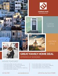 real estate flyer templates examples lucidpress bungalow real estate flyer template
