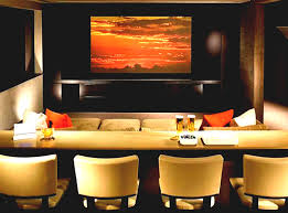 themed family rooms interior home theater: interior music theme wall poster brown paint basement home theater ideas zebra motif leather lounge