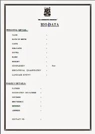 resume format for marriage free download biodata format download for new resume word formatted resume
