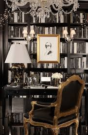 a ralph lauren home black and white study finds allure in gold touches from the black black white home office study