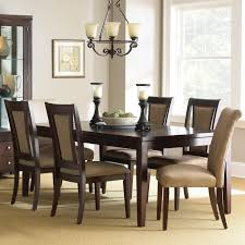 dining table parson chairs interior: pedestal dining table with parson chairs with chandelier and wooden floor for dining room decoration ideas