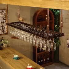 RENJUN Industrial Wind <b>Wine Glass Rack</b> Upside Down Hanging ...