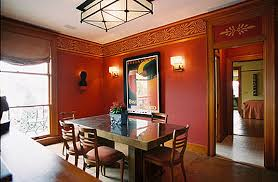 red art deco dining room art deco dining