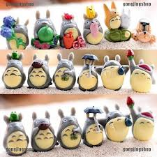 12 Pcs / <b>Set My Neighbor</b> Totoro Mini Figure DIY Moss Micro ...