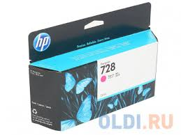 <b>Картридж</b> HP 728 (F9J66A) пурпурный (<b>magenta</b>) 130 мл для HP ...