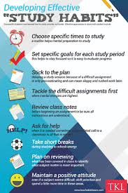 developing effective student study habits teach n kids learn tkl as students develop effective study habits their ability to assimilate and learn new information will improve grades will increase