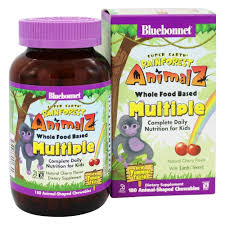 Bluebonnet Nutrition Super Earth <b>Rainforest Animalz Whole</b> Food ...
