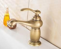 <b>BAOLINLONG</b> Antique <b>Style</b> Brass Deck Mount Bathroom <b>Basin</b> ...