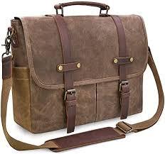 Mens Messenger Bag 15.6 Inch Waterproof Vintage ... - Amazon.com