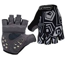 MOREOK Half Finger Double <b>Protect</b> Padding Skateboard <b>Gloves</b> ...