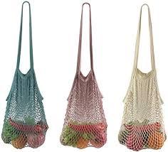 <b>durable mesh</b> net <b>shopping bag</b> fruit goods storage cotton tote ...