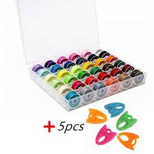 <b>36PCS</b> Mixed Colors Polyester Sewing <b>Thread</b> Transparent Plastic ...