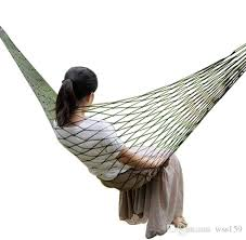 <b>Portable Garden Nylon Hammock</b> SwingHang Mesh Net Sleeping ...