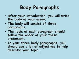 descriptive writing what is descriptive writing a descriptive  body paragraphs after your introduction you will write the body of your essay the