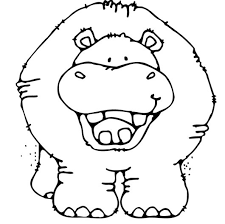 Small Picture Hippo Coloring Pages Download