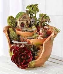 Image result for clay pots fairy garden