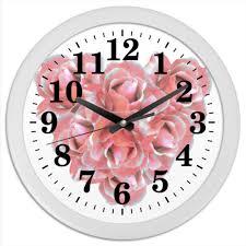 """Часы круглые из пластика """"<b>Розовые розы</b>"""" #2594126 от Ольга ..."""