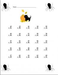 October/Halloween | Power Point Maniac's Teaching ResourcesHalloween addition Worksheet with keys