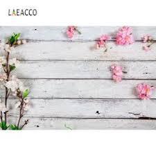 <b>Laeacco</b> White <b>Wood Board Planks</b> Flowers Cloth Show ...