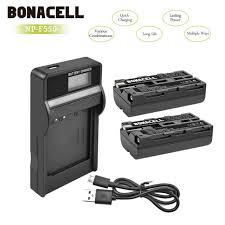 2 <b>Battery</b>+LCD Charger for Sony <b>NP</b>-F550 <b>NP</b>-F330 <b>NP</b>-F570 <b>NP</b> ...