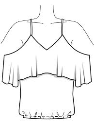 Топ с воланами | Выкройки, Модные стили, Платья