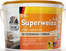<b>Краска</b> акриловая интерьерная <b>dufa Superweiss</b> Plus