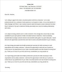 Sales Cover Letter      Free Word  PDF Documents Download   Free     Sales Consultant Cover Letter
