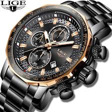 New <b>2019 LIGE Mens Watches</b> Top Brand Luxury Sport Quartz All ...