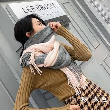 New Autumn Winter Female <b>Wool Plaid Scarf Women</b> Cashmere ...