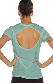 icyzone Open Back <b>Workout</b> T-<b>Shirts</b> for <b>Women</b> - Running <b>Gym</b> ...