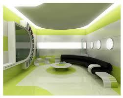 elegant modern minimalist office interior design green white color bright office room interior