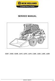 1000 images about new holland manuals high quality holland · original illustrated factory workshop service manual for new holland skid steer
