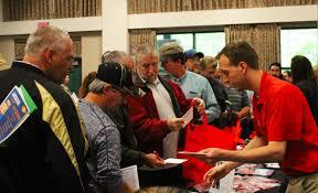 charleston gazette mail hundreds of unemployed pack logan job fair men looking for