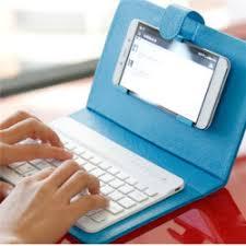 Universal Wireless Bluetooth <b>Keyboard Holster</b> Flip PU Case Cover ...