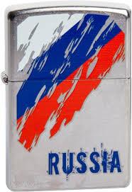 <b>Зажигалка Zippo Classic</b> 207 Russia Flag (серебристый)